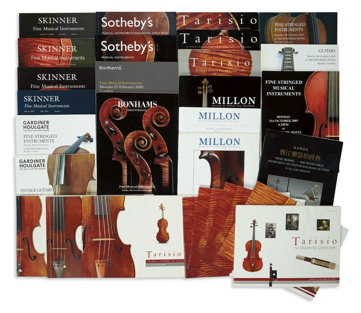 Bonhams; Sotheby's; Tarisio; Skinner; Gardiner Houlgate; Millon Maison De Ventes Aux Echeres; Music Beijing.