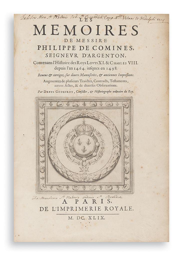 Les Memoires. Edited by Denys Godefroy.