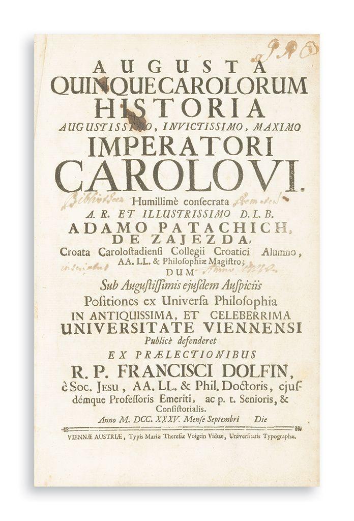 Augusta quinque Carolorum historia augustissimo