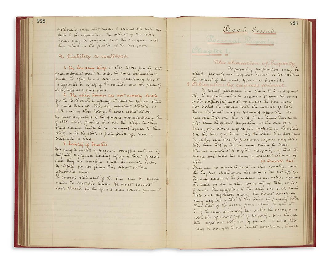 (Manuscript). Lectures on Municipal Law [England]