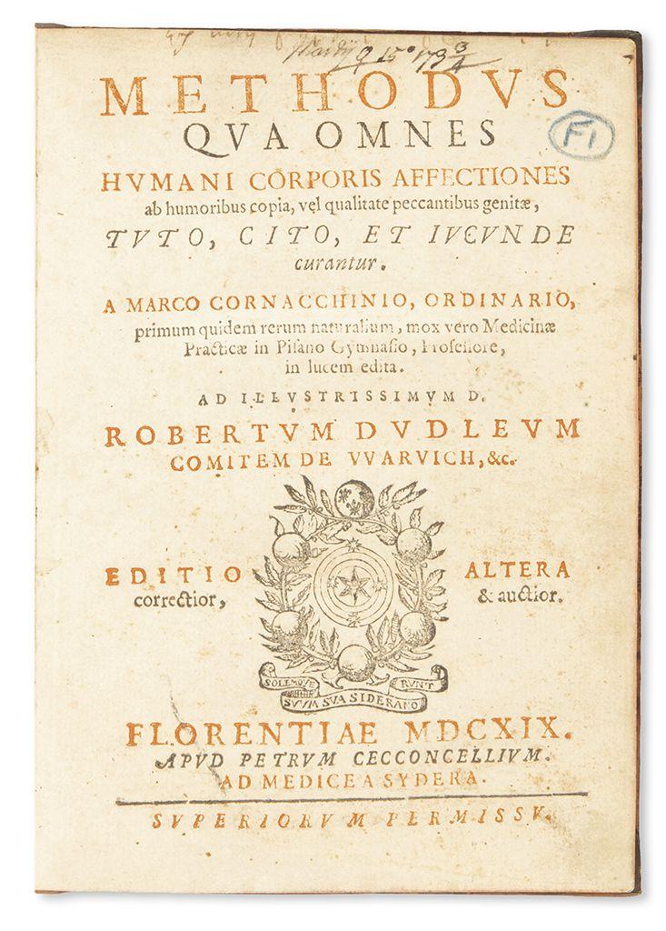 Marco Cornacchini. Methodus qua Omnes Humani Corpari Affectiones ab Humoribus Copia