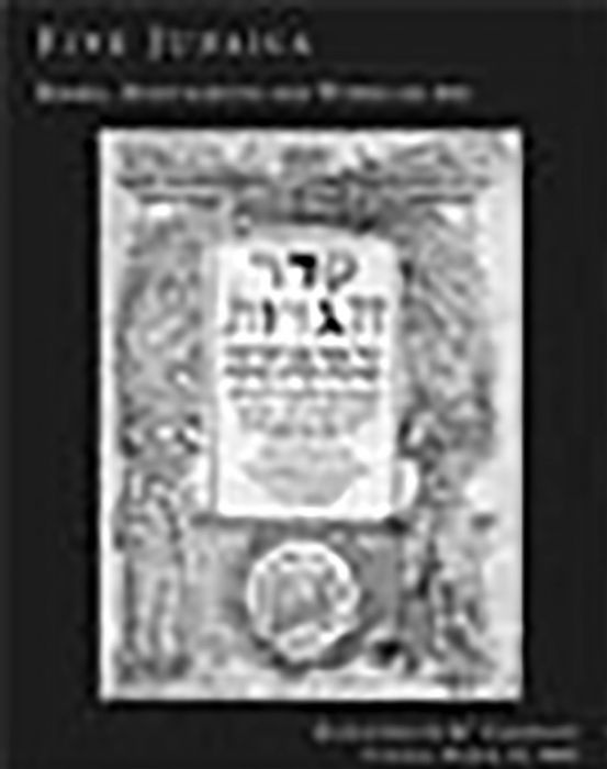Fine Hebrew Books, Manuscripts and Works of Art The Property of