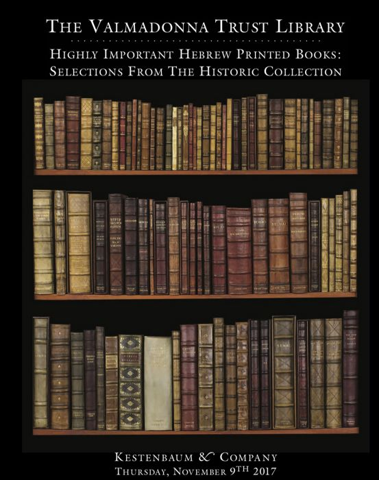 Fine Judaica: Printed Books, Manuscripts, Autograph Letters