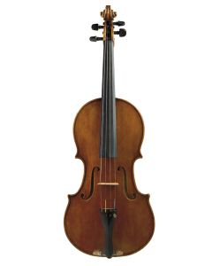 Douglas Bearden, O'Fallon, 1987, bearing the maker's original label, length of two-piece back 16 1/8 inches (41 cm).