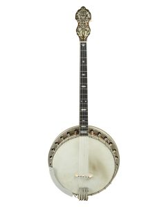 Bacon Banjo Company, Groton Connecticut, c. 1926, Style A, serial number 21154, the dowel stick stamped, the back cover bearing the maker's label and dated 1926, with original case.