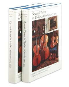 Research Papers in Violin Acoustics 1975-1993, two volumes, Woodbury, 1997.