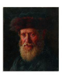 Portrait of a Hassidic Rabbi.