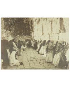 """""""Jerusalem, Mur des Juifs en Vendredi - The Jews Wailing Place, a Friday."""""""