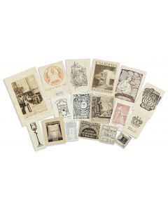 Notable collection of bookplates belonging to Jewish personalities and institutional collections.