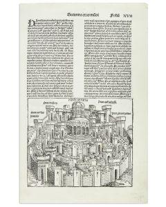 """Hierosolyma, Templum Salomois [""""Solomon's Temple, Jerusalem""""]."""