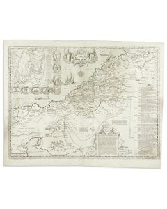 Canaan. Copperplate map.