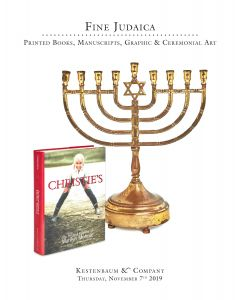 Fine Judaica: Printed Books, Manuscripts, Graphic & Ceremonial Art