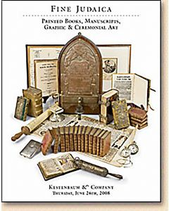 Fine Judaica: Printed Books, Manuscripts, Autograph Letters, Graphic & Ceremonial Art