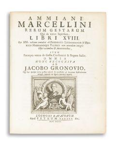 Rerum Gestarum qui de xxxi Supersunt, Libri XVIII (Res Gestae).