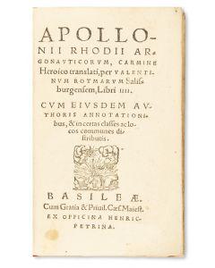 Argonauticorum, Carmine Heroico.