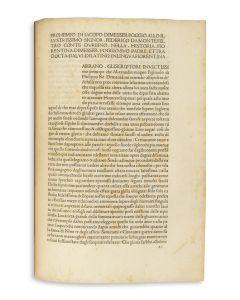 Historia del Popolo Fiorentino. ff. 218. Marginal notations.  Historia Fiorentina. ff. 116.