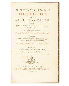 Disticha de Moribus ad Filium.