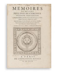 Les Memoires. Edited by Denys Godefroy.