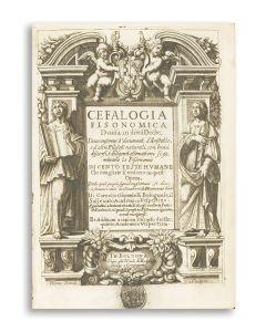 Compendio della cefalogia fisonomica nella quale si contiene cento sonetti di diversi eccellenti poeti sopra cento teste humane.