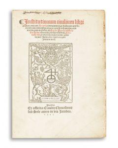 Institutionum civilium libri quatuor.