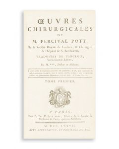 Percival Pott. Oeuvres Chirurgicales.