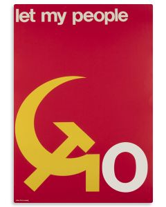 "(Political Poster).""Let My People Go."" Text in English. Designed by Dan Reisinger."