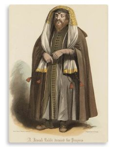 A Jewish Rabbi Dressed for Prayers.